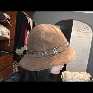 Coach Suede and Silk Hat with Beading